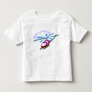 Camiseta del helicóptero del dibujo animado playera