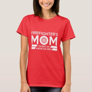 Camiseta del héroe de la mamá del bombero