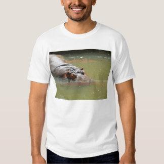 Camiseta del hipopótamo de los hombres remeras