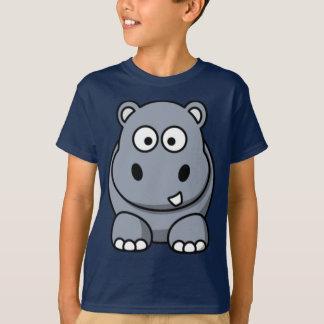 Camiseta del hipopótamo del dibujo animado