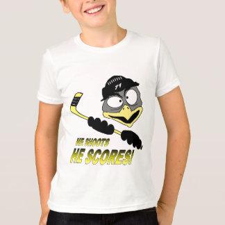 Camiseta del hockey del pingüino de la juventud