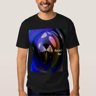 Camiseta del hombre de Rocket Playeras