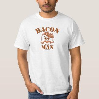 Camiseta del hombre del tocino polera