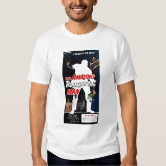 "Camiseta ""del hombre transparente asombroso"" remeras"