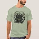 Camiseta del hombre verde del solsticio de
