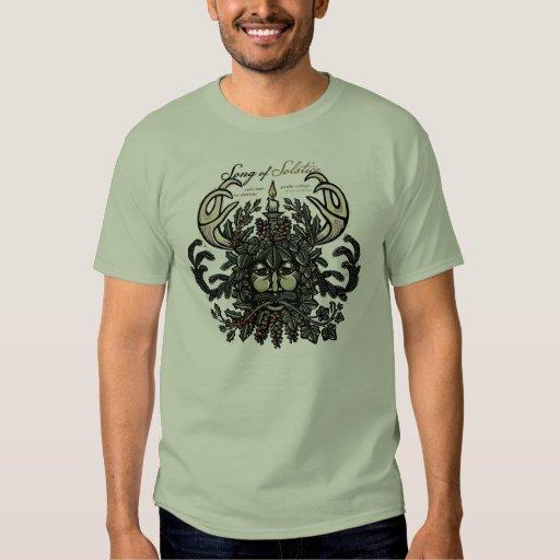 Camiseta del hombre verde del solsticio de poleras