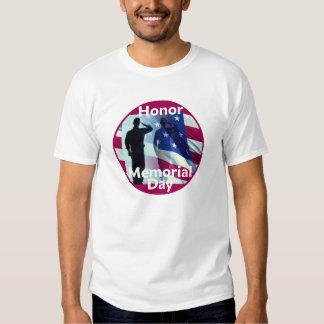 Camiseta del honor del MEMORIAL DAY 2010 Poleras