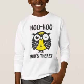 camiseta del hoo del hoo para los niños poleras
