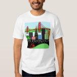 Camiseta del horizonte de San Francisco Playeras