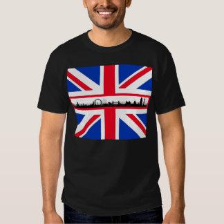 Camiseta del horizonte de Union Jack Londres Camisas
