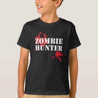 Camiseta del horror del cazador del zombi de los