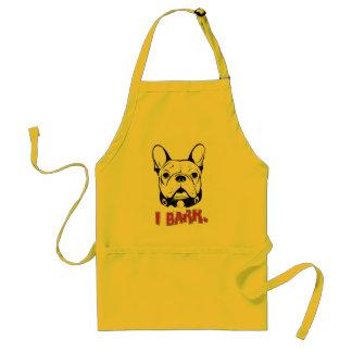 "Camiseta del humor del dogo francés ""que raspo "" delantal"
