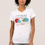 Camiseta del humor que hace punto