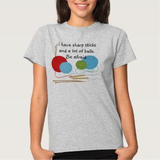 Camiseta del humor que hace punto playeras