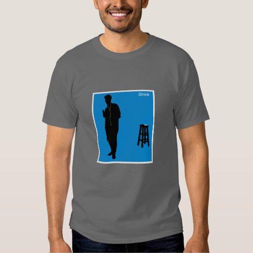camiseta del iDrink - Powell gris - hombres (negro Playera