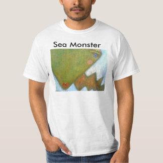 Camiseta del individuo del monstruo de mar playera