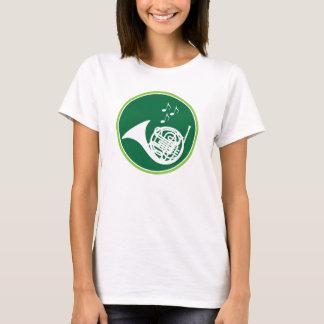 Camiseta del instrumento de música de la trompa