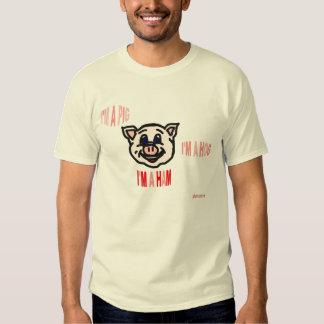 Camiseta del jamón del cerdo del cerdo poleras