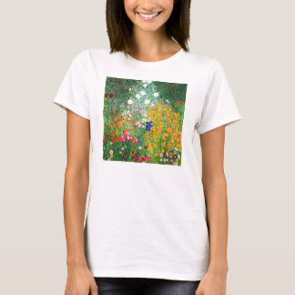Camiseta del jardín de flores de Gustavo Klimt