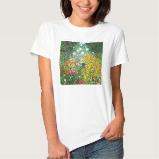 Camiseta del jardín de flores de Gustavo Klimt Polera