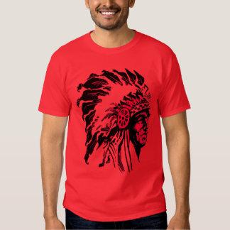 Camiseta del jefe indio del nativo americano del playera