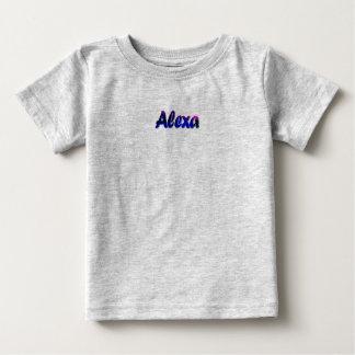 Camiseta del jersey de la multa del bebé de Alexa