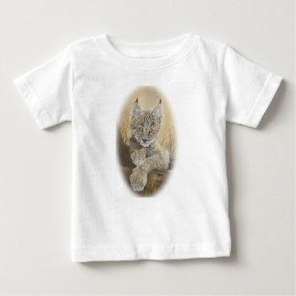 Camiseta del jersey de la multa del bebé del lince