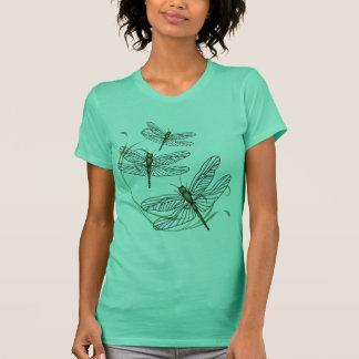Camiseta del jersey de la multa del verde de las