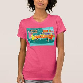 Camiseta del juego de la tarjeta de las mujeres