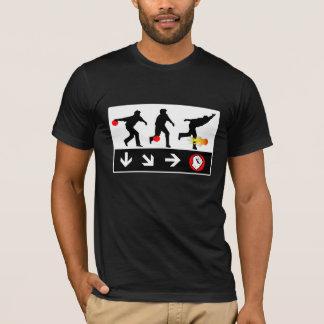 camiseta del juego del tiro de la bola de fuego de