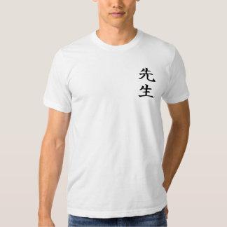 Camiseta del kanji de Sensei Remera