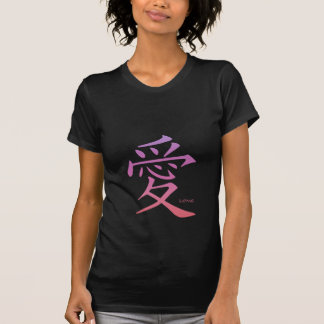 camiseta del kanji del amor