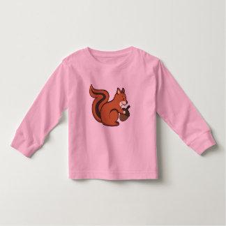 Camiseta del kiid de la ardilla poleras