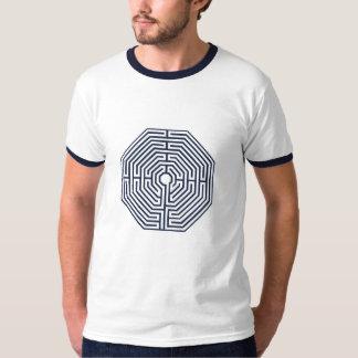 camiseta del laberinto de la mandala - para hombre camisas