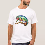 Camiseta del lagarto del camaleón de la pantera