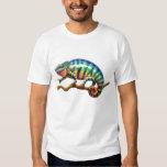 Camiseta del lagarto del camaleón de la pantera remeras