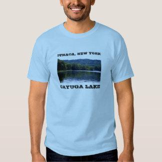 Camiseta del LAGO del CAYUGA, ITHACA, NUEVA YORK Camisas