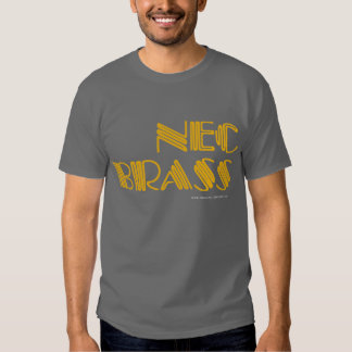 Camiseta del latón del NEC Remeras
