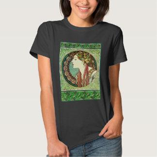 Camiseta del laurel de Alfonso Mucha Poleras