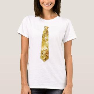 Camiseta del lazo de la falsificación de la mirada