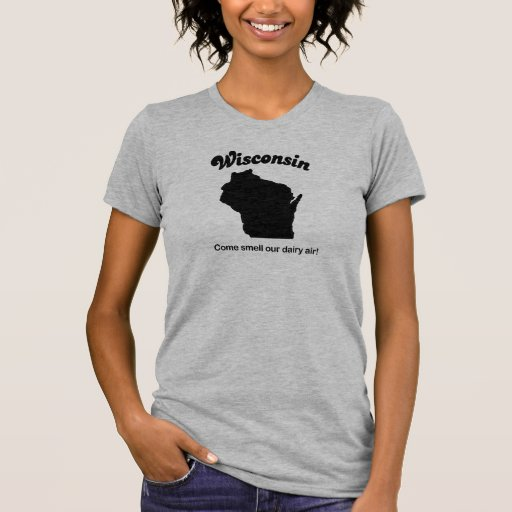 Camiseta del lema del estado de Wisconsin Playera