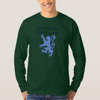 Camiseta del león del lema de Escocia Wallace de Camisas