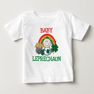 Camiseta del Leprechaun del bebé Poleras
