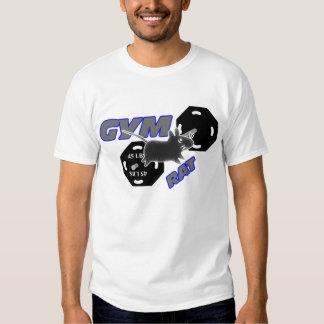 Camiseta del levantamiento de pesas de la rata del