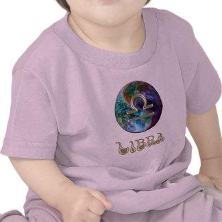Camiseta del libra de la muestra del zodiaco de la