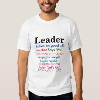 Camiseta del líder camisas