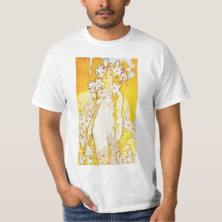 Camiseta del lirio de Alfonso Mucha Polera
