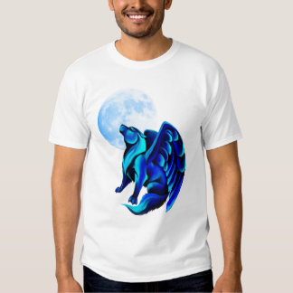Camiseta del lobo de la fantasía camisas