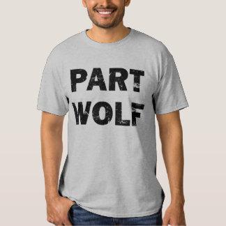 Camiseta del lobo de la parte playeras