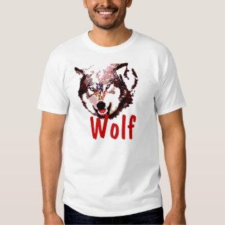 Camiseta del lobo del arte pop polera